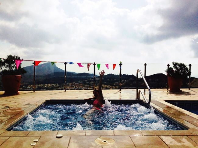 Spain 2015 That's Me SPAIN Vacation 2015  Hanging Out Jacuzzi  Pool Birthday View