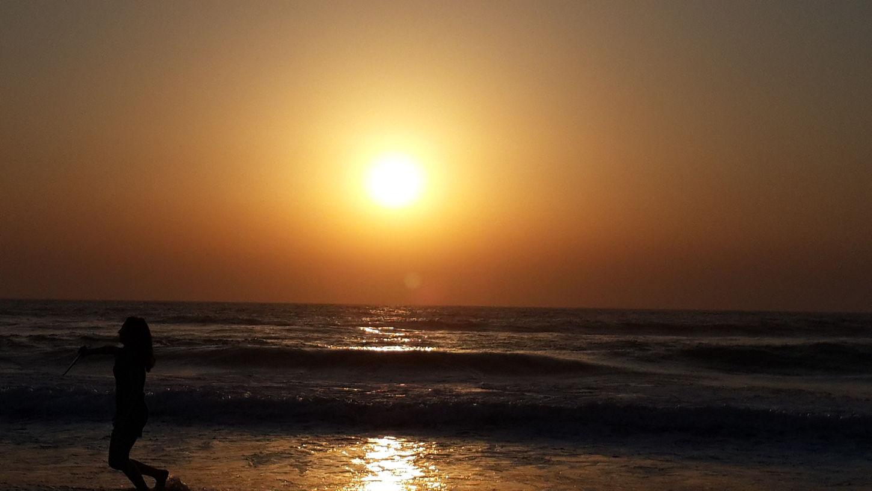 ערב שקט בים