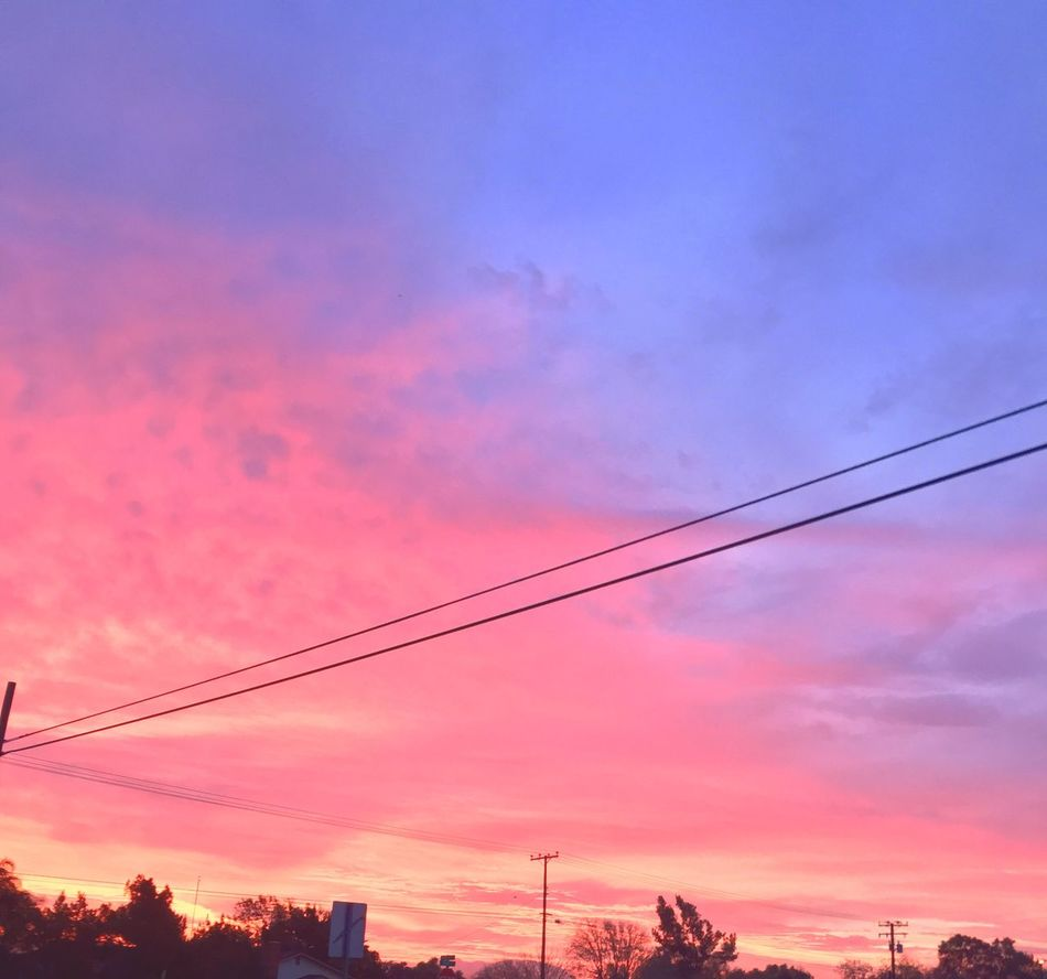 The Earth is my body, my head is in the stars!... who said that? Sky Cable Cloud - Sky Power Line  Power Supply Sunset Connection Electricity  No People Outdoors Telephone Line Low Angle View Scenics Beauty In Nature Nature Electricity Pylon Telephone Pole Day First Eyeem Photo