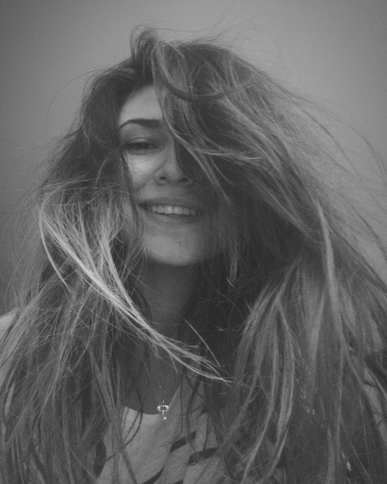 Let Your Hair Down Selfie Portrait Hair Loose Hair Smile Looking At Camera Monochrome Photography Uniqueness Uniqueness Women Around The World