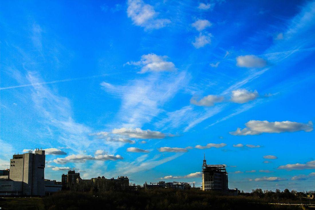 небо облака горизонт небо