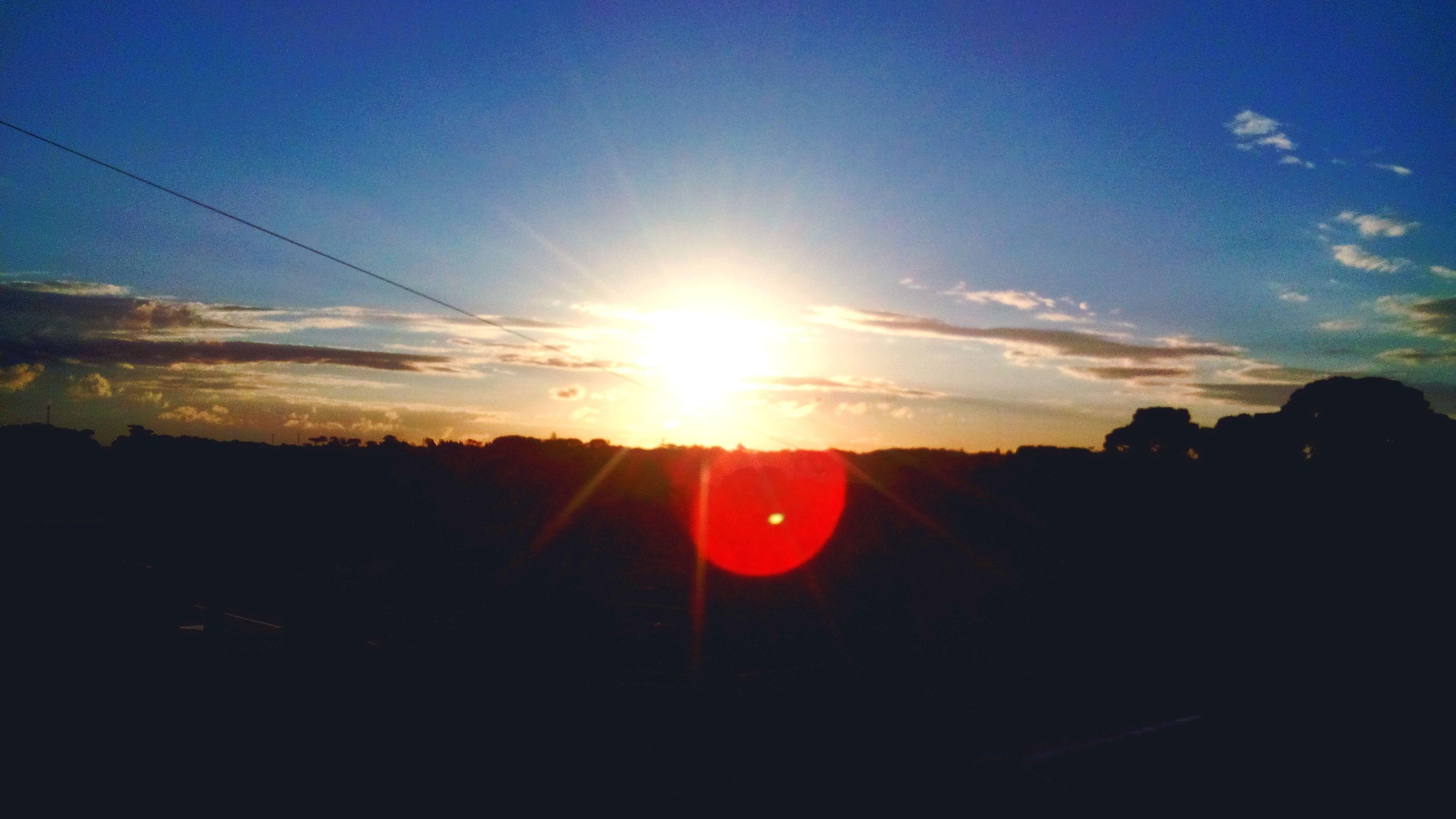 sun, sunset, silhouette, sunlight, sunbeam, lens flare, sky, tranquility, tranquil scene, scenics, beauty in nature, nature, landscape, idyllic, orange color, back lit, outdoors, bright, dark, no people