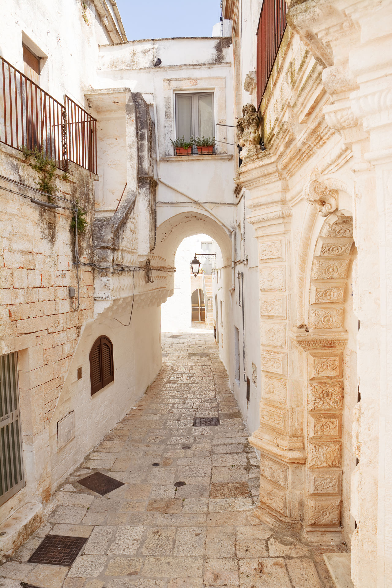 Alley of Cisternino in Puglia (Italy) Alley Alleyway Apúlia Architecture Borgo Brindisi Characteristic Cisternino Fasano Historic House Italian Italy Itria Ostuni Pavement Picturesque Puglia Road Salento Street Typical Village