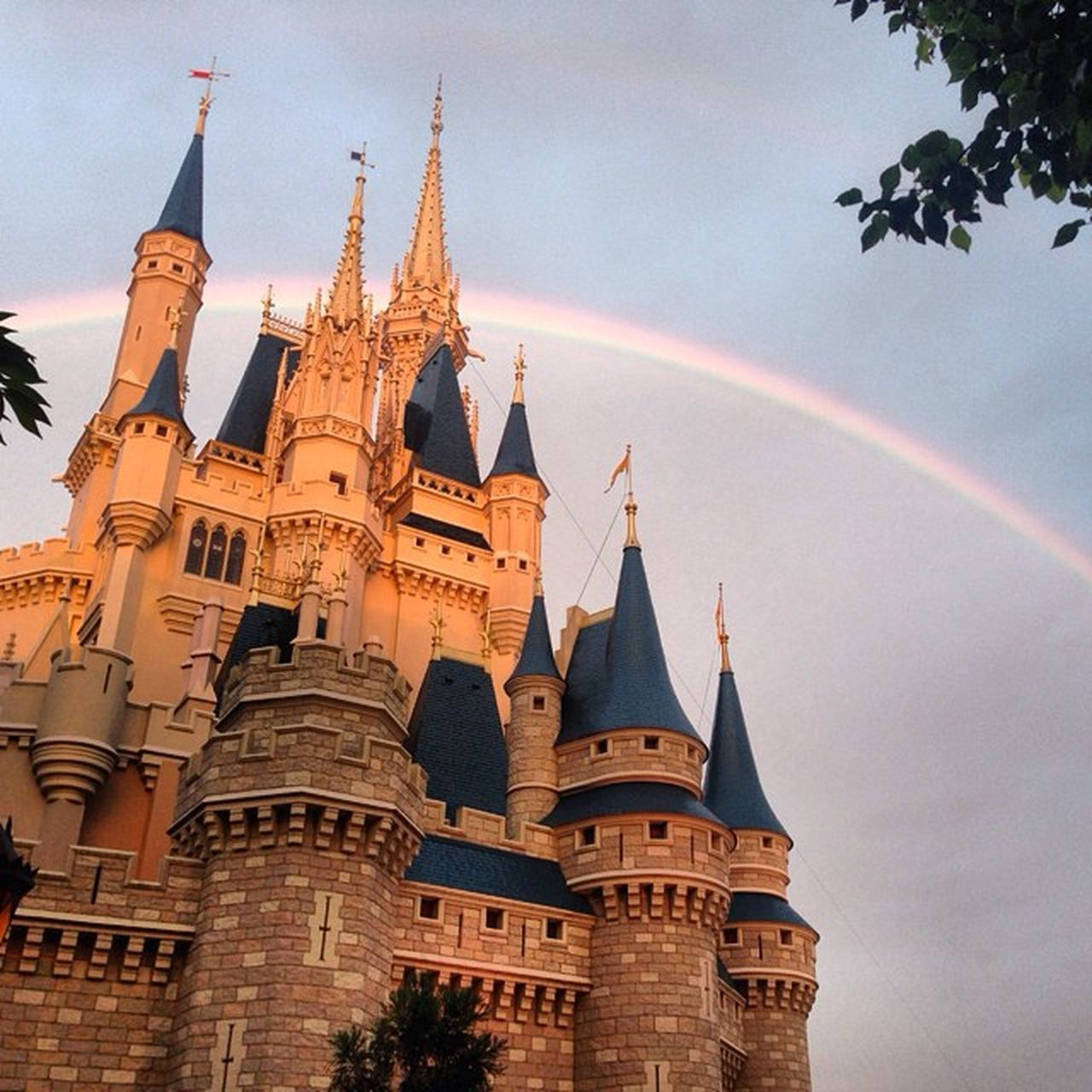 Somewhere, over the rainbow, way up high. There's a land that I heard of once in lullaby. ☺️ Nunnawanderlust Rainbow Castle Fairytale  Onceuponatime Dreamcomestrue 2daysleft ..