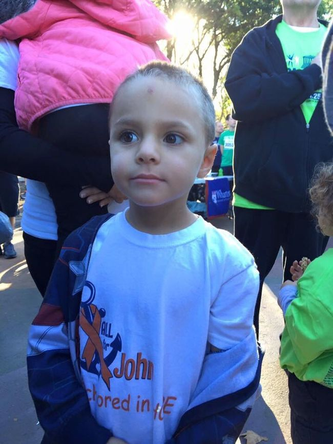 This is John Saile. Today's race was all for him. God bless this little guy. ALLForJohn CureChildhoodCancer