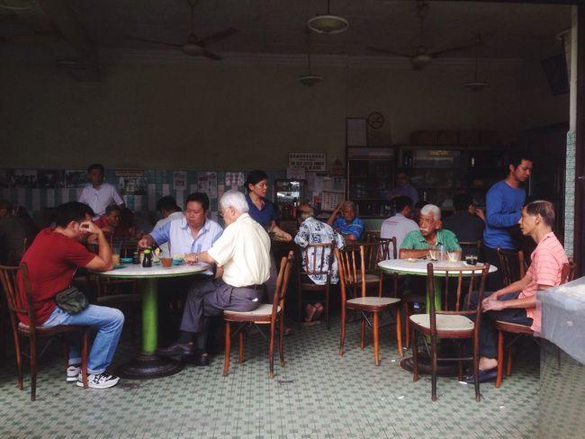 Locals having breakfast at coffee shop in Transfer Road, Penang. Penang Enjoying Life Check This Out Relaxing Malaysia. Breakfast Nasi Kandar