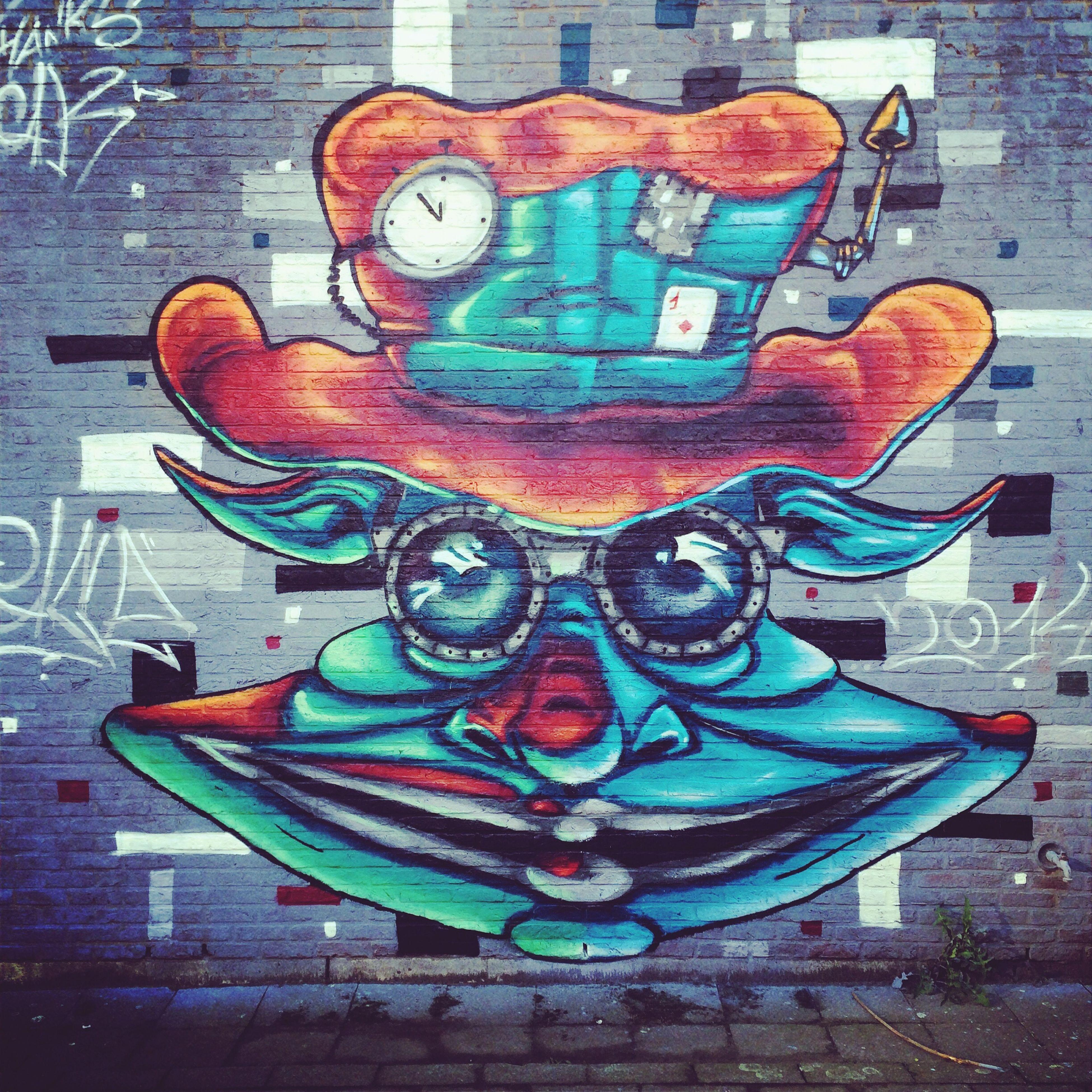 art, art and craft, creativity, human representation, graffiti, multi colored, animal representation, wall - building feature, craft, sculpture, built structure, design, architecture, mural, street art, no people, statue, pattern