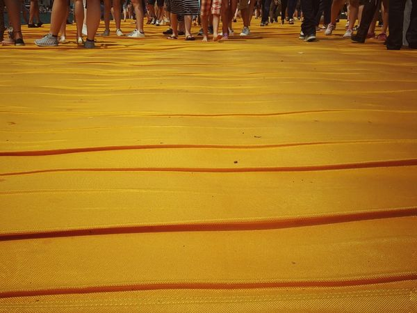 Walking on the Floating piers   The Essence Of Summer Golden Moments  Getting Inspired Point Of View People Still Life Close-up Edge Of Imagination The Innovator The Mix Up Christo And The Floating Piers The Floating Piers Tailored To You 43 Golden Moments Walking Fine Art Original Experiences Lago D'Iseo Showcase July EyeEm Italy  