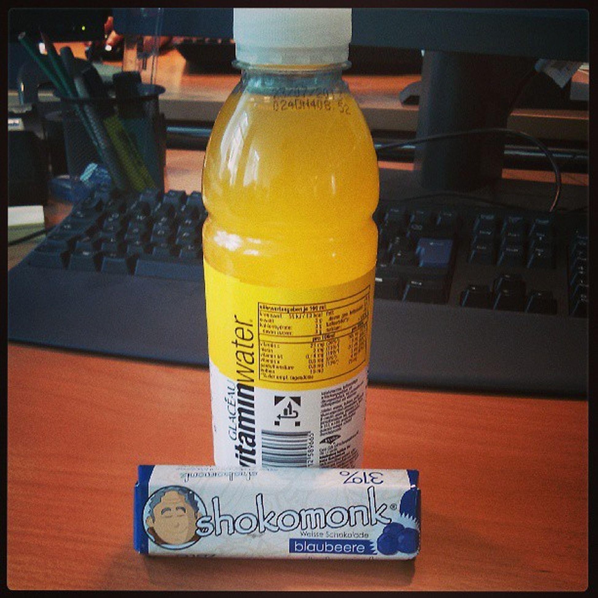 Shokomonk Whitechocolade Blueberry Vitaminewater ignite staysharp tropicalcitrus gönne ich mir ;-)