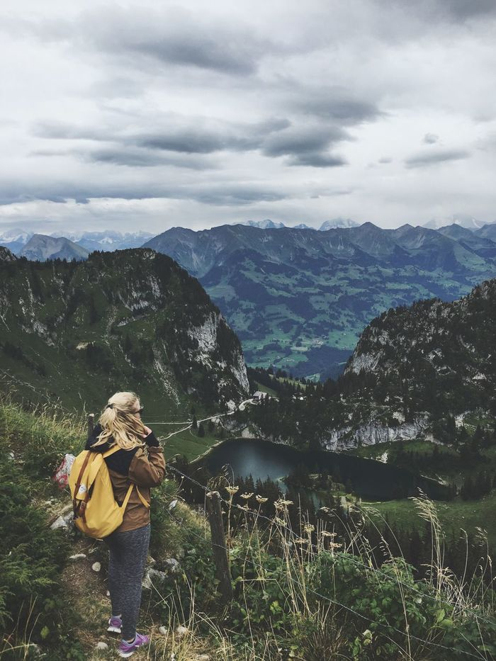 Swiss Alps Hiking Nature View From Above Lost In The Landscape