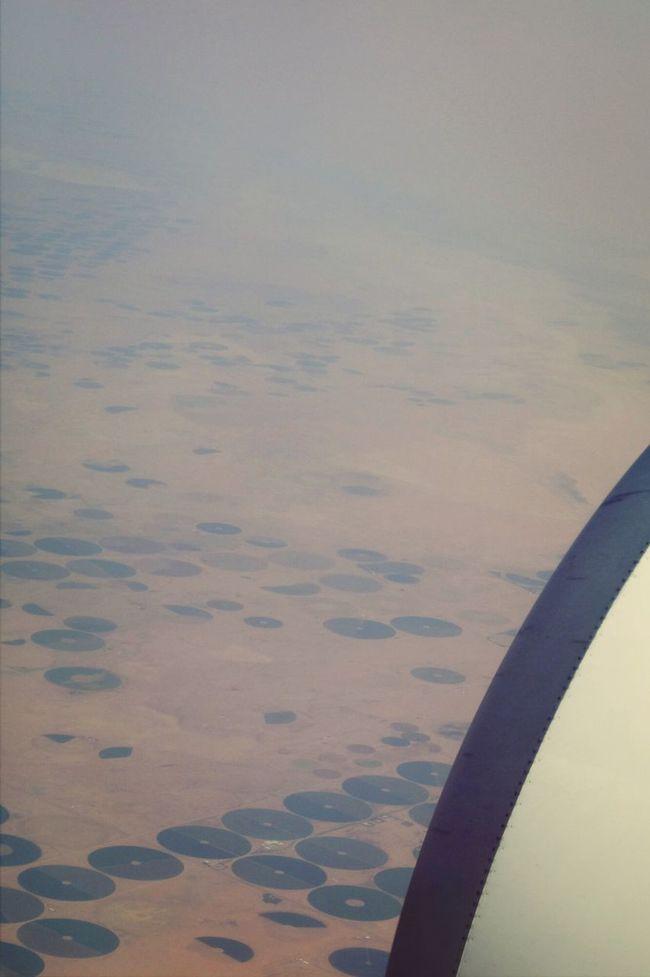 FujiFilm X20 EyeEm Filter Food P EyeEm Nature Lover Irrigated Agriculture地理の勉強みたいだけど。今回の旅では、アラビア半島砂漠地帯で円形の灌漑農場(センターピボットのやつ)を観察できました。