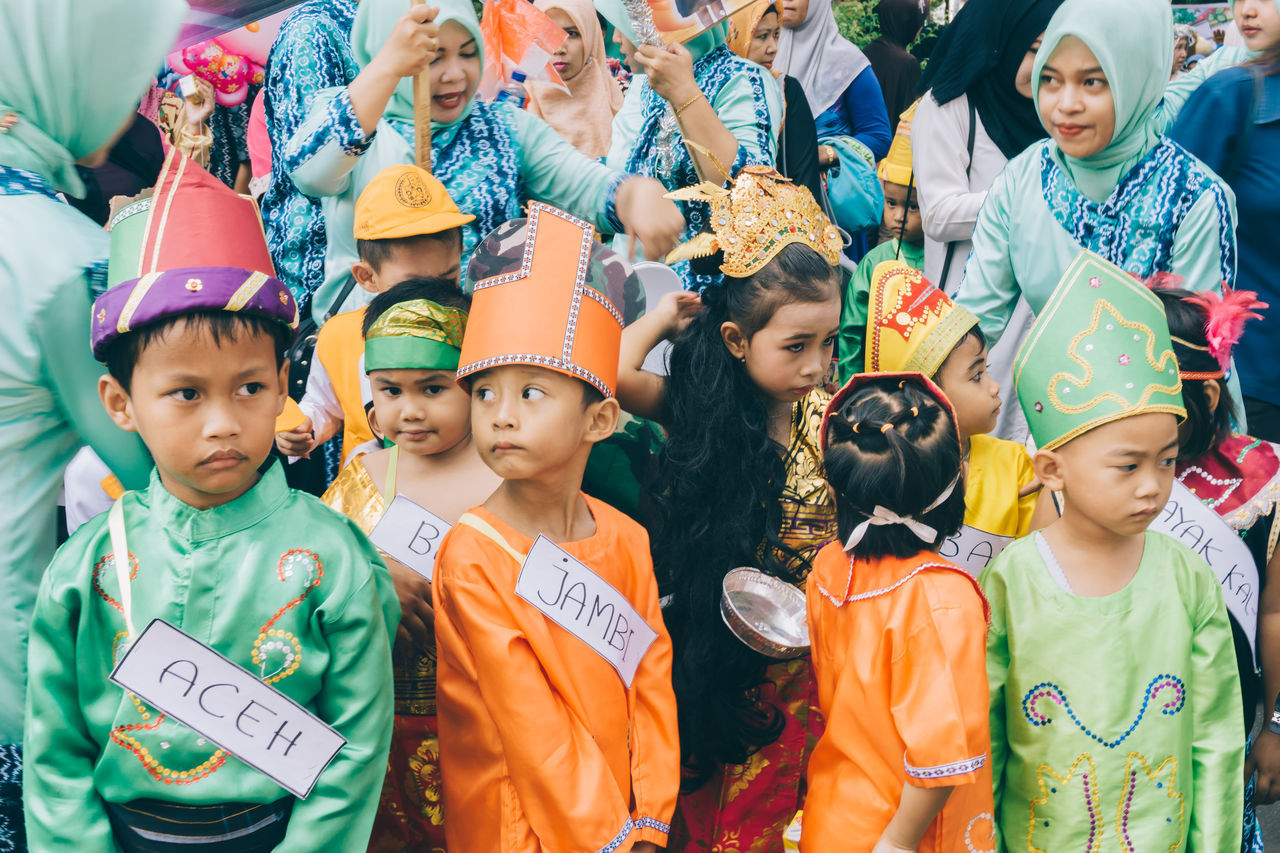 kondergarten carnival Adult Boys Carnival Carnival Crowds And Details Celebration Child Childhood Day EyeEmNewHere Family Kids Kindergarten Large Group Of People Outdoors People Portrait Smiling Standing Togetherness Traditional Clothing Young Adult