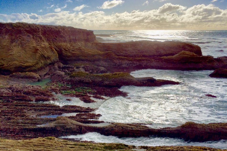 Montaña De Oro Beach Ocean Rock Rock Formation Wave Sunset Beauty In Nature Nature Color Free Travel Landscape Pattern