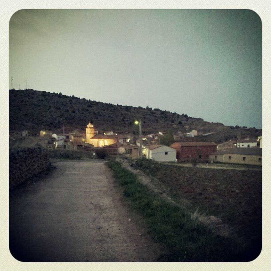 Anochece en Monterde de Albarracín... Flk