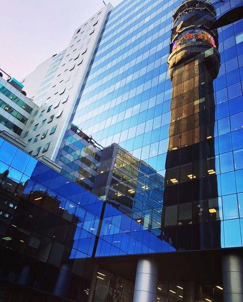 Reflection EntelTower (null) City Building Exterior Modern Day Santiago De Chile