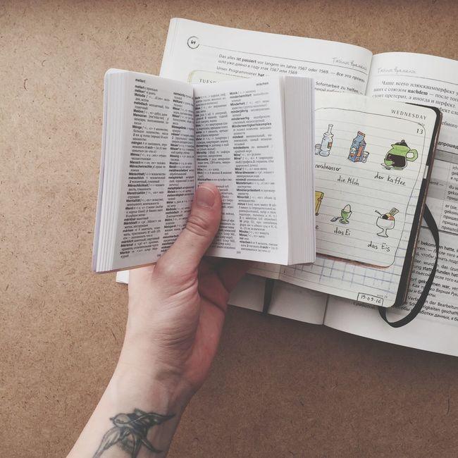 Deutsche Worte Deutsch Sketchbook Holding Hobbies Sketching Moleskine