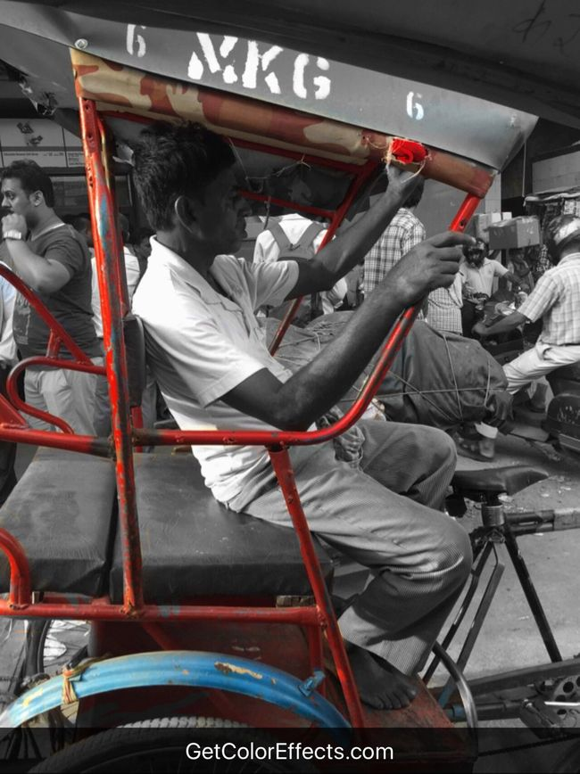 Chandnichowk Labour Olddelhi Rikshaw