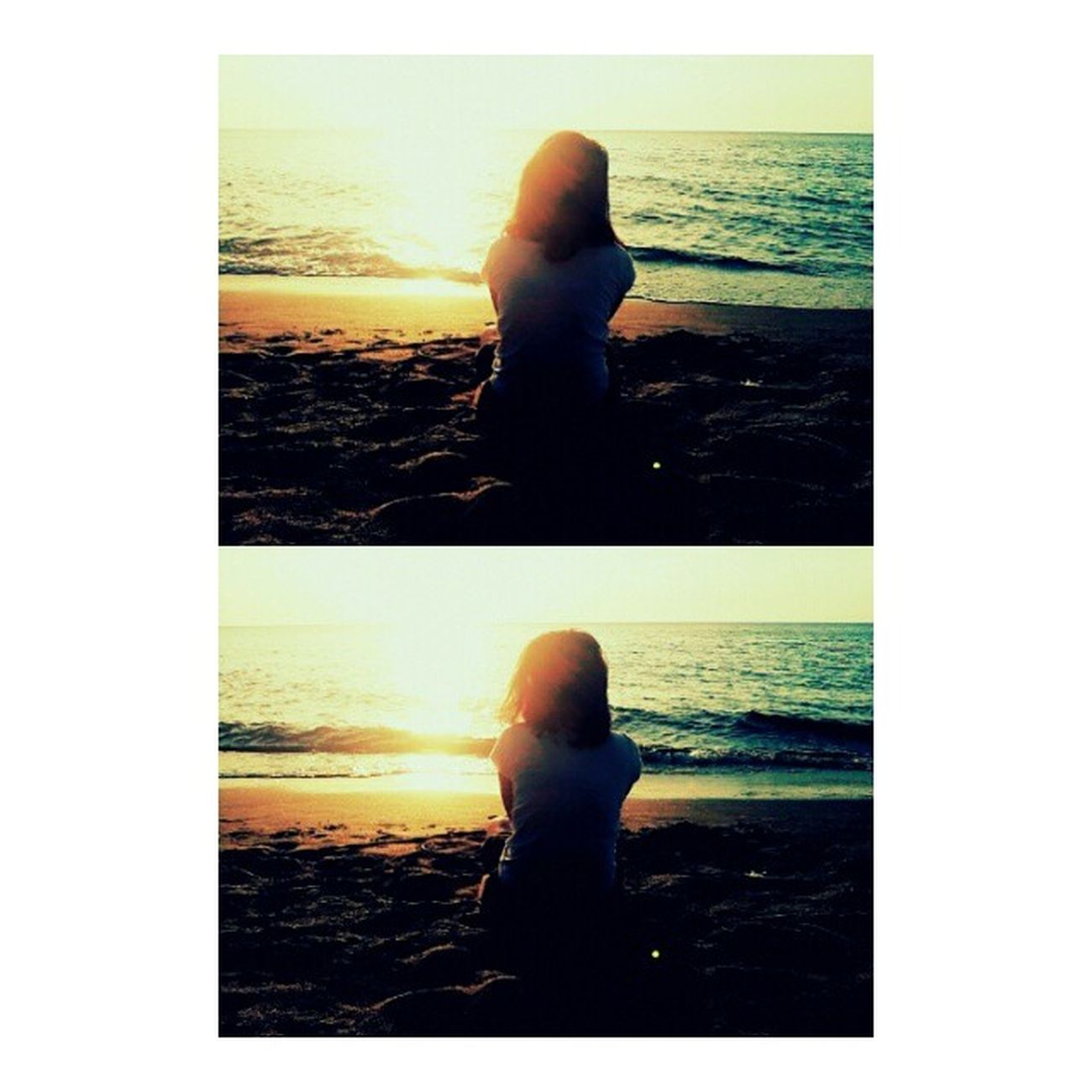 its looks like i am so lonely xD Latepost Beach Sun Light Sunset Explore INDONESIA Situbondo Jawatimur Paradise ParadiseInIndonesia