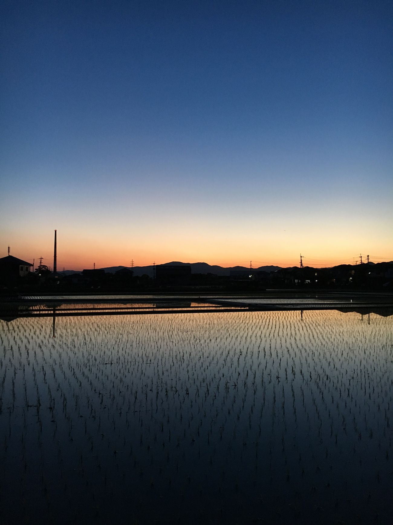 Sunset Silhouette Reflection IPhoneography Landscape_Collection 徳島県 Japan