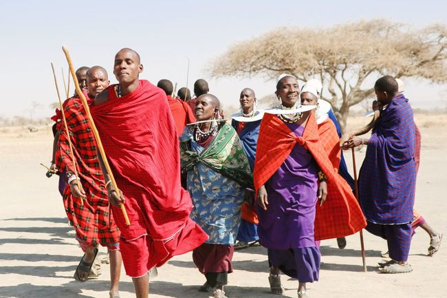 Maasai Masai Maasai People Maasai Village Togetherness Lifestyles Africa Standing Casual Clothing Day Outdoors Tribe