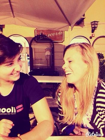 I like laughing with her, I adore her so much ?