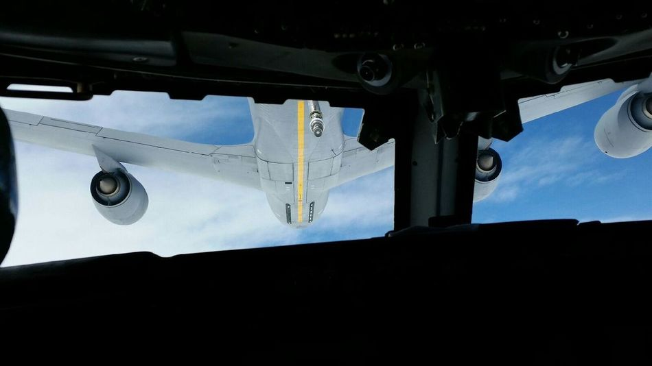 Airealphotography AirPlane ✈ Aircraft Kc135 Formation Flying Air Refuel
