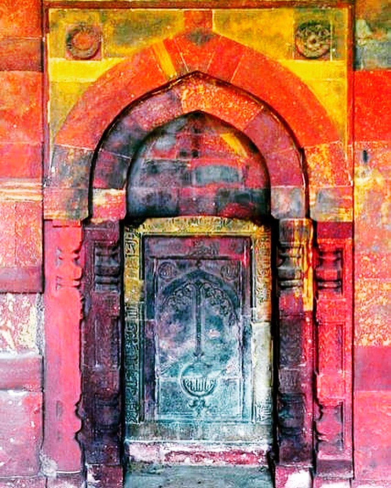 Colorful Door Traditional Old-fashioned Delightful