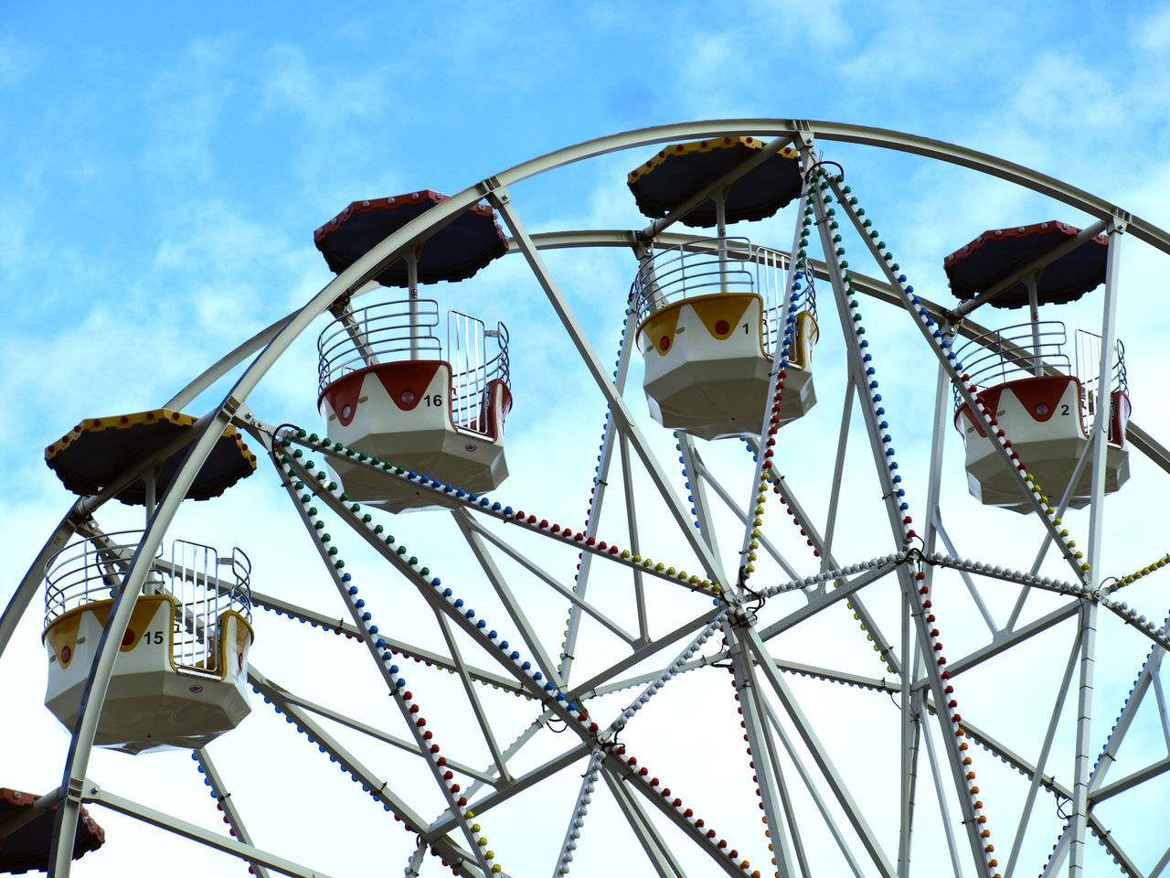 Amusement Park Amusement Park Ride Arts Culture And Entertainment Blue Cloud - Sky Day Enjoyment Ferris Wheel Ferry Wheel Fun Low Angle View No People Outdoors Sky Traveling Carnival