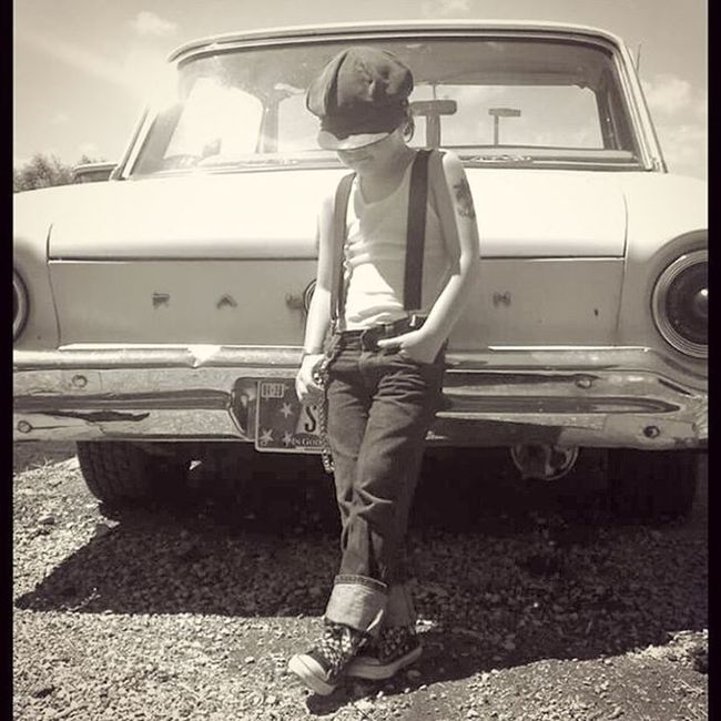 TBT  to Thebigblowout a couple years ago Henrydagonet Loveofmylife Carshows HotRods Classiccar 1963fordfalcon Fordsofinstagram Falcon Livinginadifferentera Retro Vintageleatherhat MyCar Hoodlummotorclub Dailydriver Oldschool