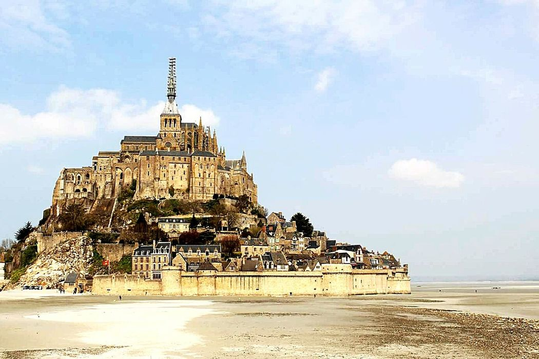 Travel Destinations Sea Religion Outdoors Place Of Worship Pilgrimage No People Beach Sky Architecture Day Cultures France Vacations Normandie Normandie, France Normandy Normandia  Mont Saint-Michel Bay Mont Saint-Michel Abbey Mont St. Michel