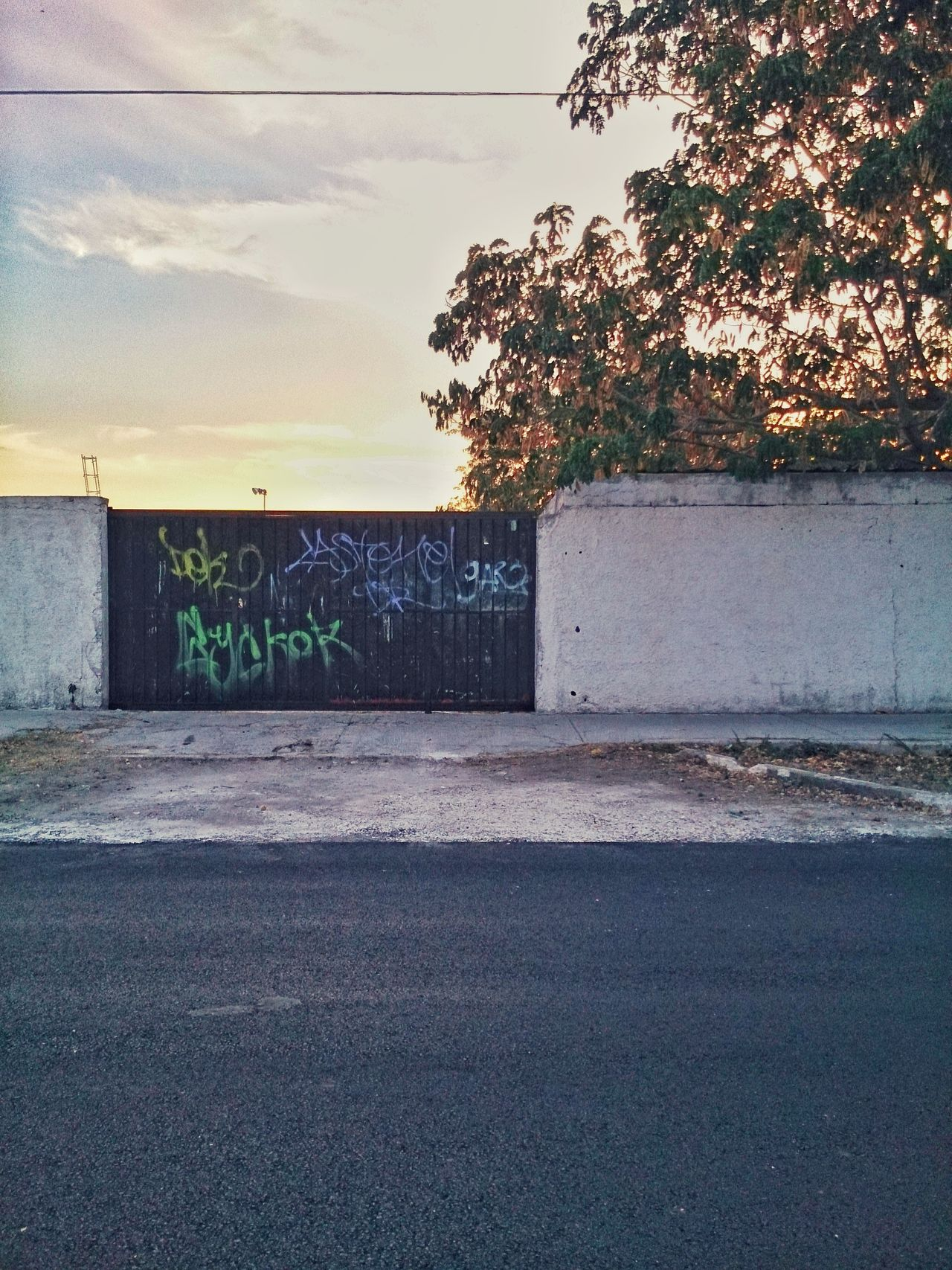 Graffiti on the door. Outdoors Day Street Photography Merida♡ Xperia ZL No People City Life Mobile Photography Urban Photography Yucatan Mexico Doors&windows Doors And Windows Around The World Graffiti