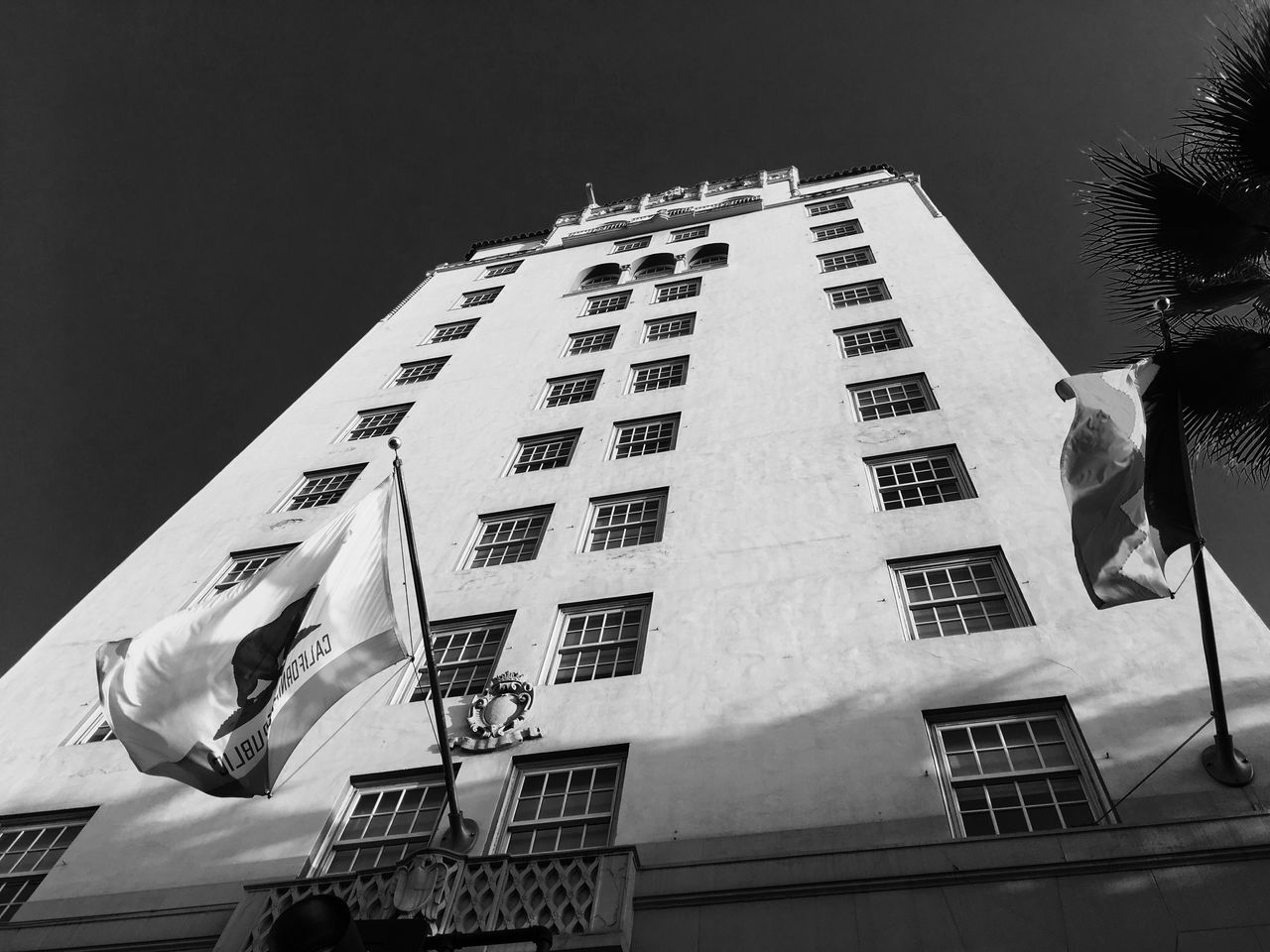 Roosevelt Hotel / Hollywood, California Architecture Building Exterior Built Structure Clear Sky Day Film Noir Hollywood Hollywood Boulevard Hotel Low Angle View Monochrome No People Outdoors Roosevelt Hotel, Los Angeles Sky