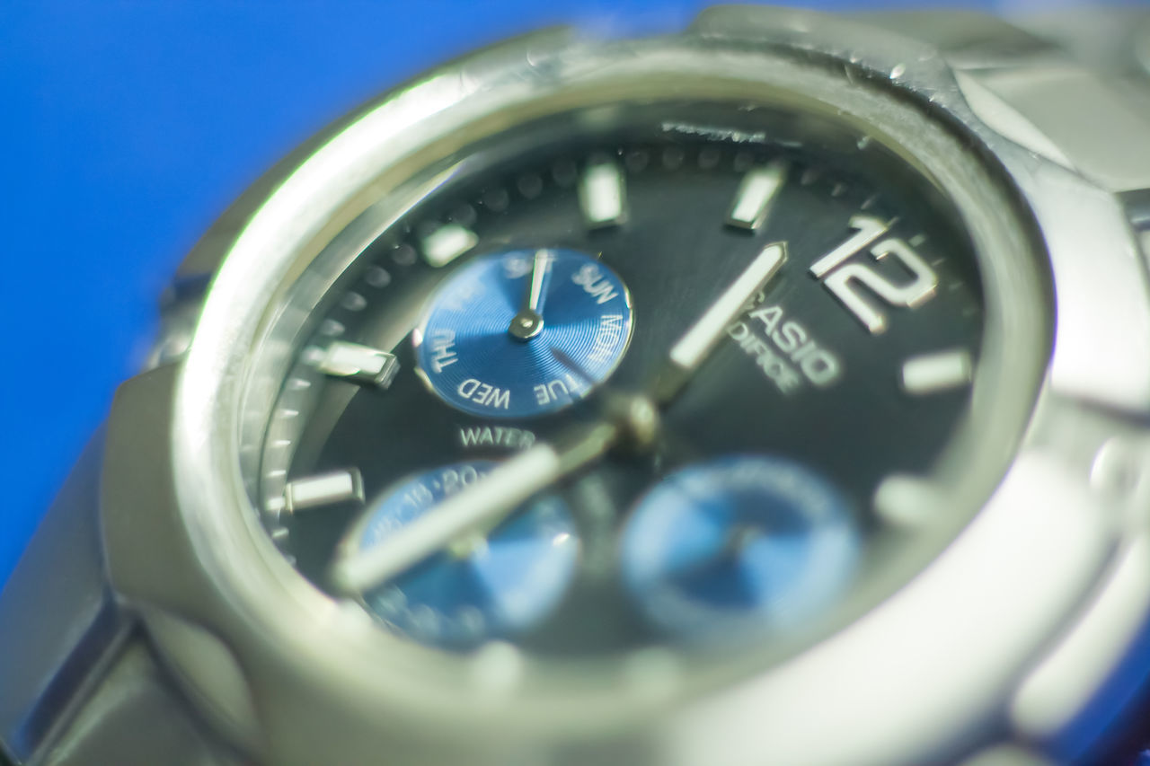 casio watch Blue Casio Casio Watch Close-up Editorial  Macro Reflection Watch