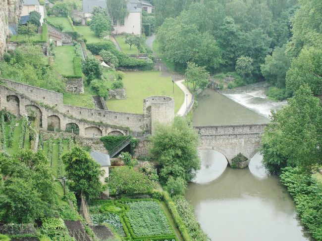 2012 Luxembourg City Old Town Views Bridge