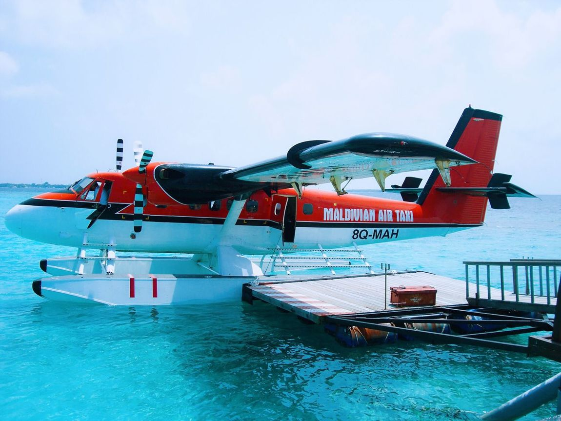 From My Point Of View Waterplane Transportation Sky Sea Travel Vacations Outdoors Summer Landscape Holiday Hello World Photography Ocean Seaplane
