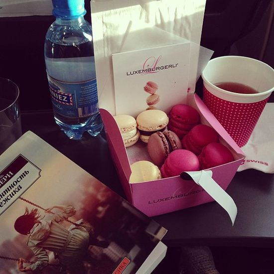 My way of being happy... #swissair #sweets Sweets Swissair