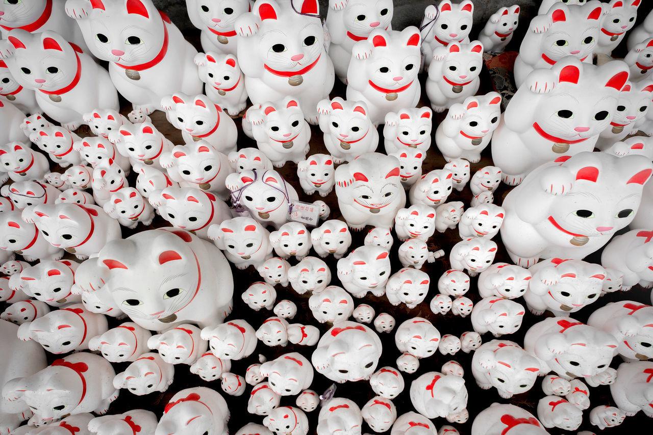The Gotokuji SHrine is dedicated to Manekineko, these cute cat object are mede to bring good fortune. Abundance Cat Cat Lovers Cats Of EyeEm Close-up Culture Of Japan Cute Cute Cats Cute Cats (>^ω^<) Directly Above Gotokuji Gotokuji Temple Japan Japanese Culture Large Group Of Objects Manekineko Neko No People Shrine Tokyo Tradition Traditional Culture