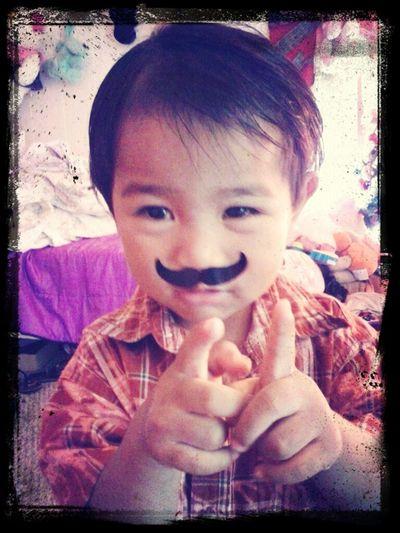 Mustasche Boy ..