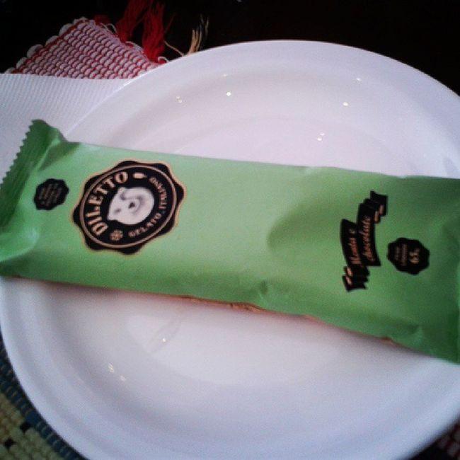 Gelatto delicia! Menta Chocolate Gordice Acamponesa