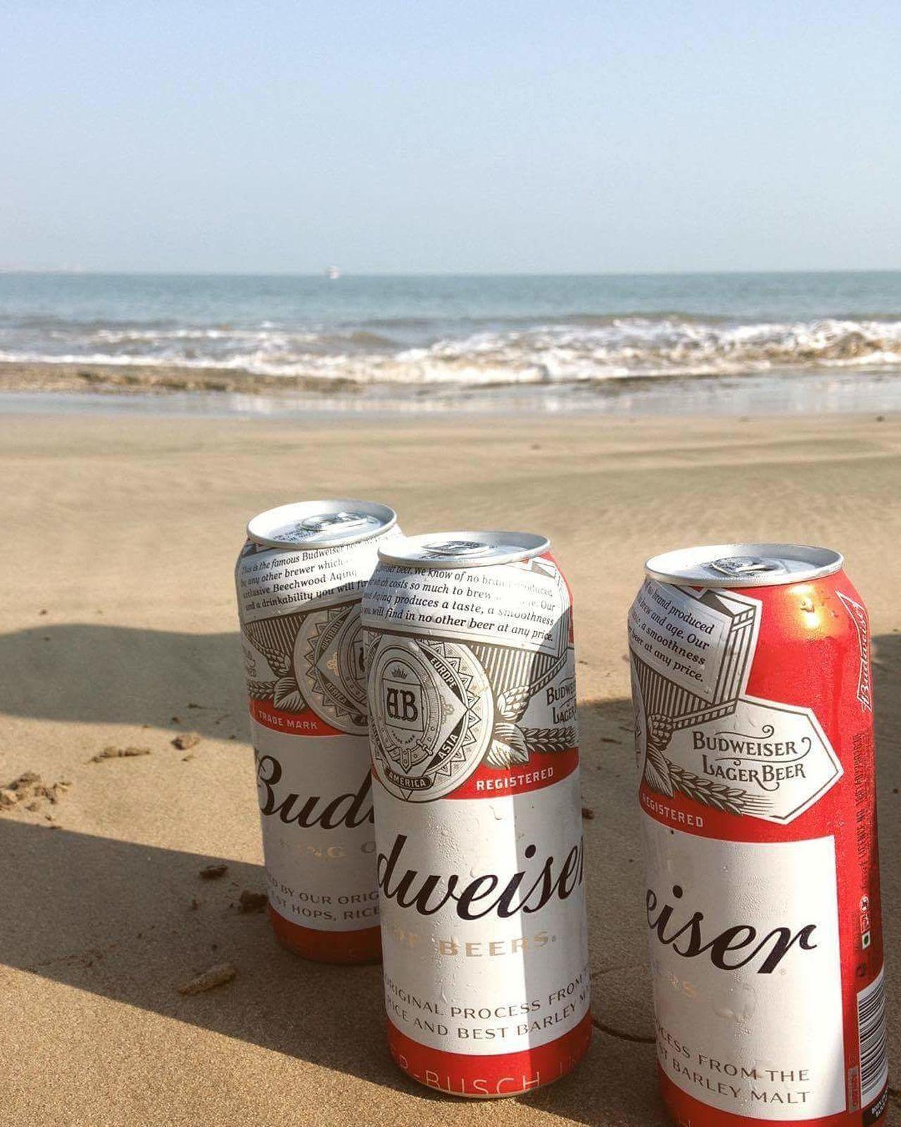 Budweiser Beer Beach Beer Time Diu  Diu_beach