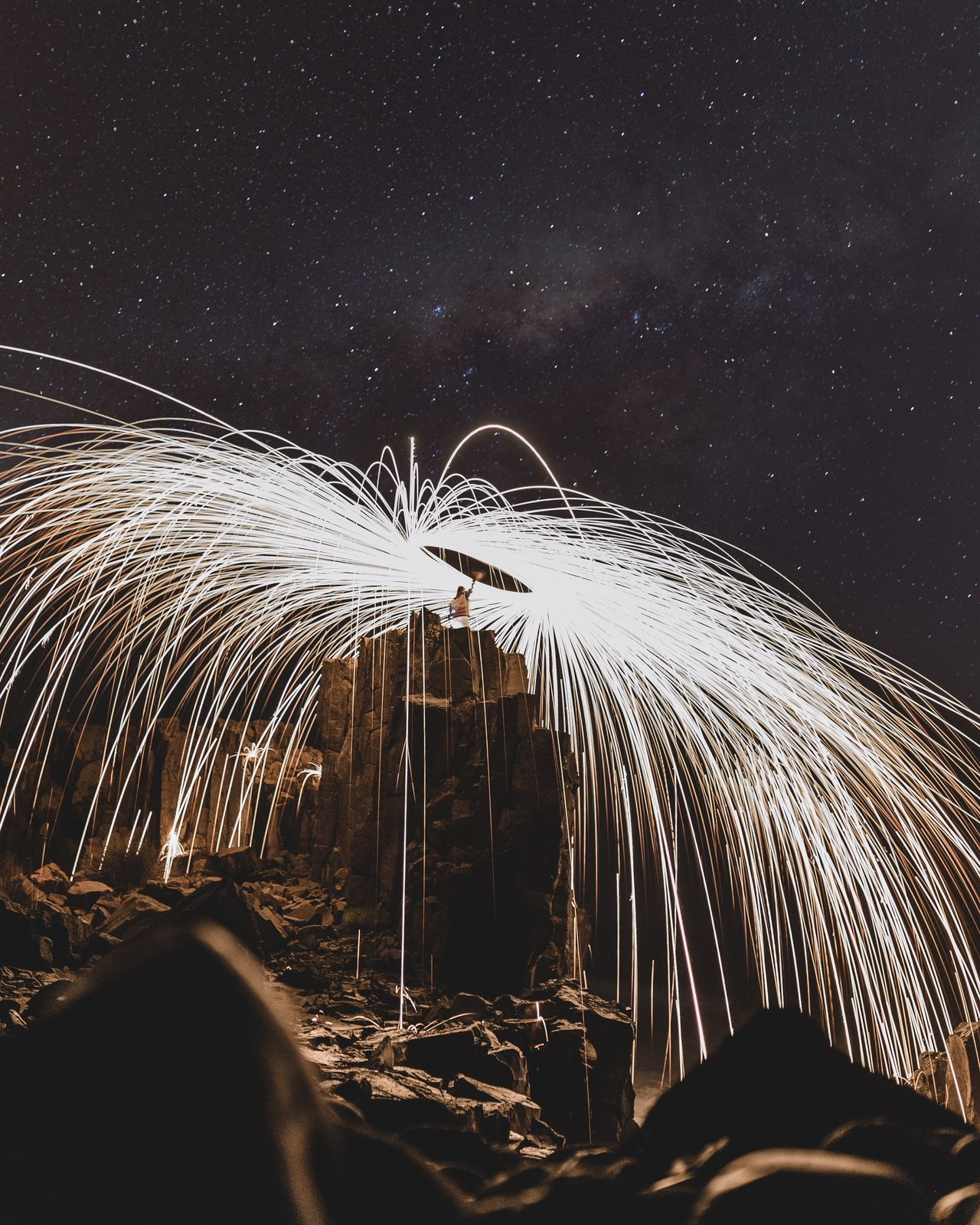 The Great Outdoors With Adobe Astrophotography Milkyway Stars Steel Wool Light Painting Rocks Sydney The Great Outdoors - 2016 EyeEm Awards Adventure Club EyeEm X Adobe - The Great Outdoors