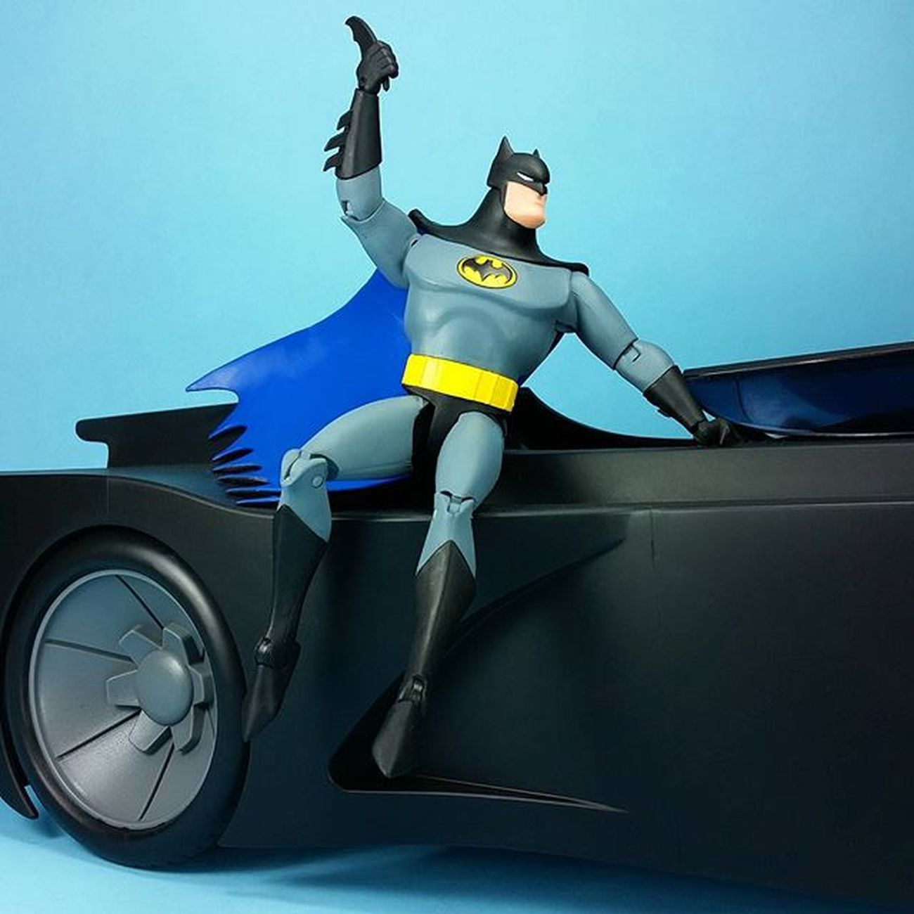 It's nice to finally have proper toys of my favorite version of Batman. BatmanTheAnimatedSeries BTAS Batman Batmobile