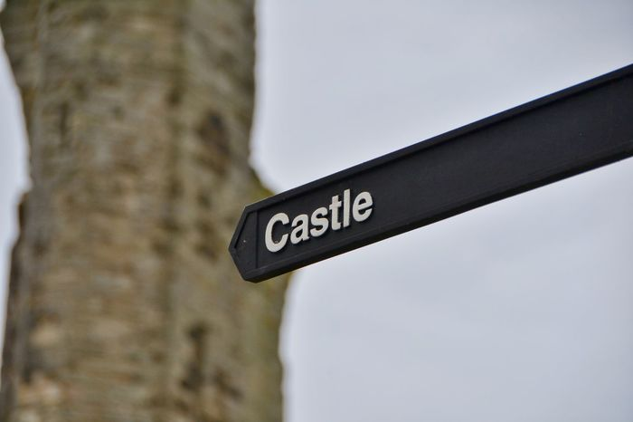 Text Communication No People Day Close-up Outdoors Road Sign Castle Castle Gate