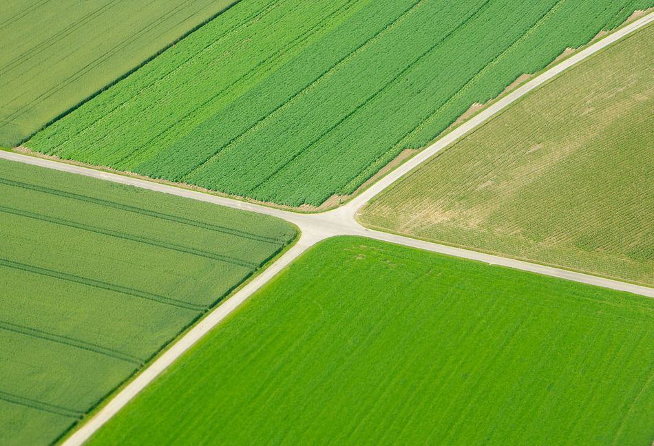 Aerial View Agriculture Backgrounds Cross Crossroads Day Grass Green Color No People Outdoors