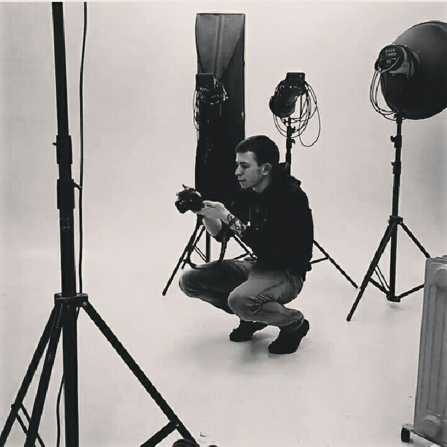 At Work. Photograph in the Studio. D_bur Moscow Photo