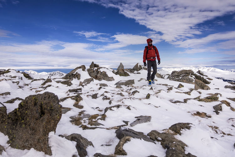 Adventure Alpinism Alpinist Beard Climbing Climbing A Mountain Cold Cold Temperature Emotions Extreme Sports Happiness Ice Climbing Mountain Mountaineering Movement One Man Only Outdoor Photography Outdoor Sports Pyrenees Red Jacket Snow Sport Winter Sports