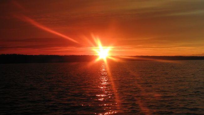 Sunset Clouds Закат облака пейзаж Landscape Ландшафт горизонт Horizon Glitch