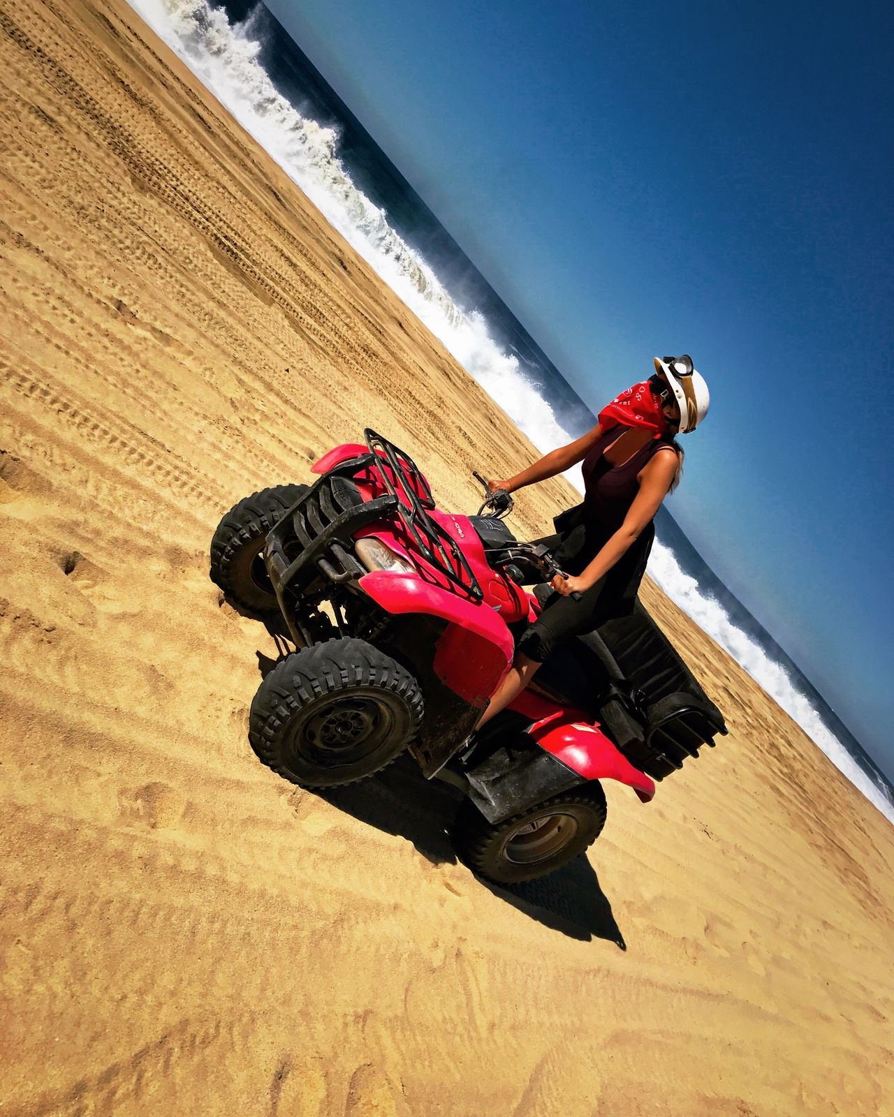Adventure Extreme Sports One Person Leisure Activity Day Sport Outdoors Nature Young Adult Motorsport Adrenaline Junkie Adrenalin Effort Determination Ocean Waves ATV Ride Squad Vacations