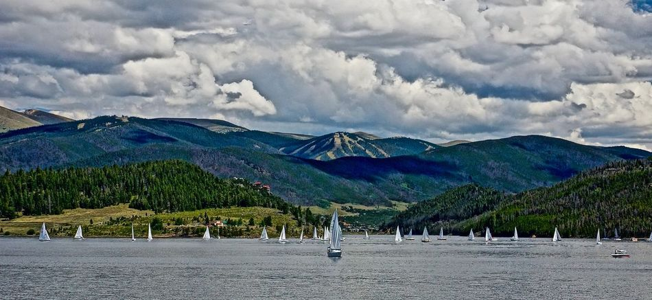 Beauty In Nature Boats Boats And Clouds Boats And Water Boats⛵️ Cloud - Sky Colorado Day KeystoneSkiResort Lake Lakeside Landscape Mountain Mountain Range Nature Outdoors Sailboat Sailing Scenics Sky Summer ☀ The Rockies Tranquil Scene Tranquility Vacations