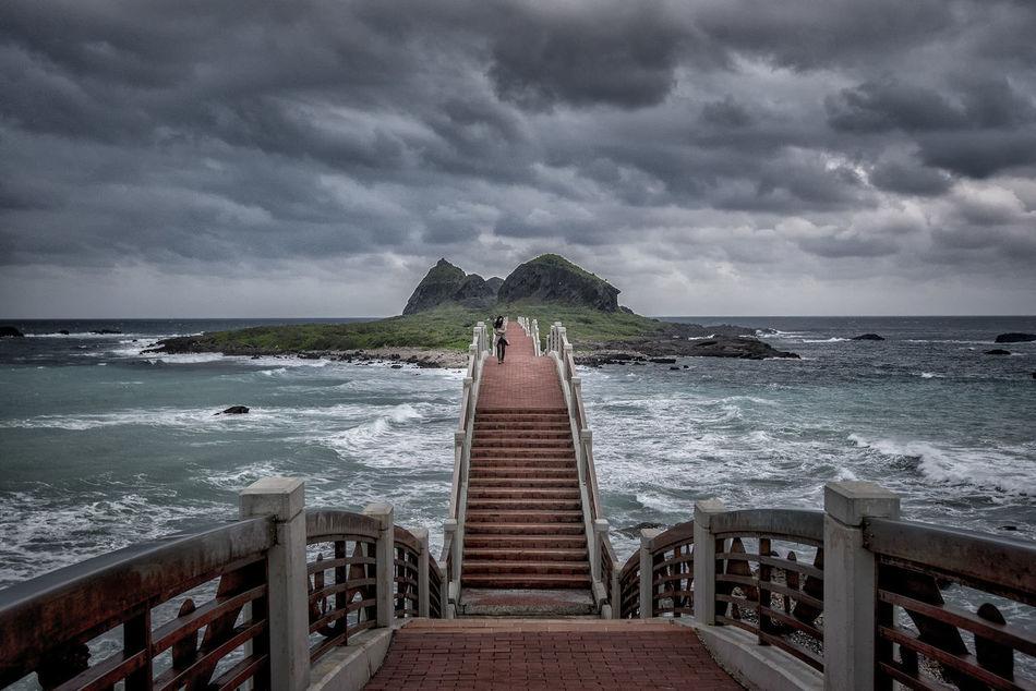 Architecture ASIA Asian  Beauty In Nature Bridge Cloud - Sky Coastline Dragon Bridge East Coast Hualien No People Sanxiantai Scenics Sea Storm Storm Cloud Taitung,taiwan Taiwan Water Wave